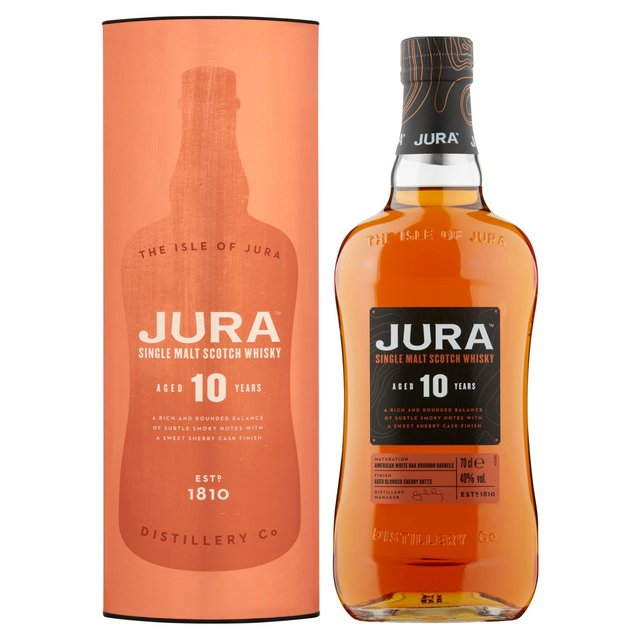 Jura Aged 10 Years Single Malt Scotch Whisky (Abv 40%)