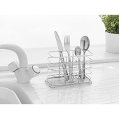 Addis Wire Cutlery Utensil Draining Holder Caddy