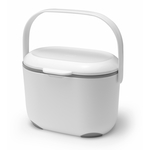 Addis Kitchen Food Compost Caddy, White / Grey