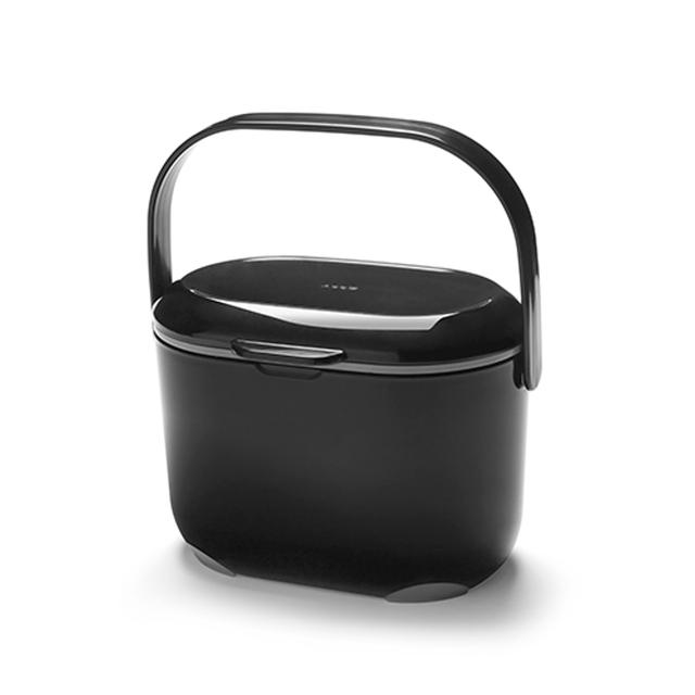Addis Kitchen Food Compost Caddy, Black / Grey