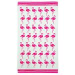 Morrisons Beach Towel Flamingo