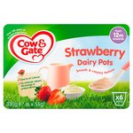 Cow & Gate Strawberry Dairy Pots