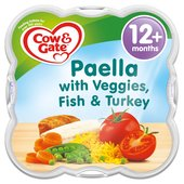 Cow & Gate Paella with Veggies Fish & Turkey Baby Meal Tray