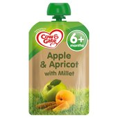 Cow & Gate Apple & Apricot with Millet Fruit Pouch