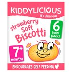 Kiddylicious Strawberry Soft Biscotti 7+ Months