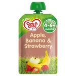 Cow & Gate Apple Banana & Strawberry Fruit Puree Pouch