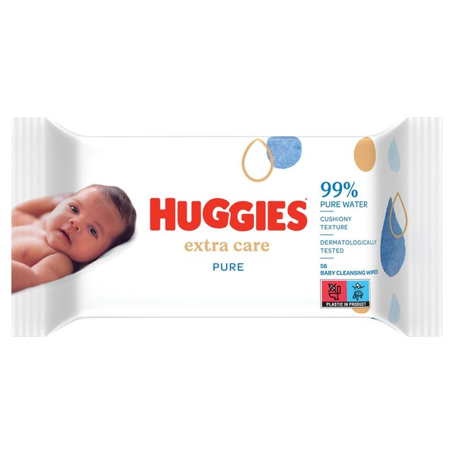 Huggies Pure Extra Care 56 Wipes