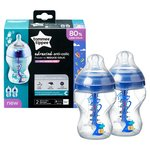 Tommee Tippee Advanced Anti - Colic 2 260Ml Decorated Bottles 0M+
