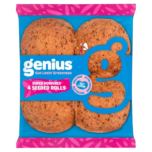 Genius Gluten Free Triple Seeded Soft Rolls