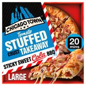 Chicago Town Takeaway Stuffed Sticky Sweet Cola BBQ Pizza