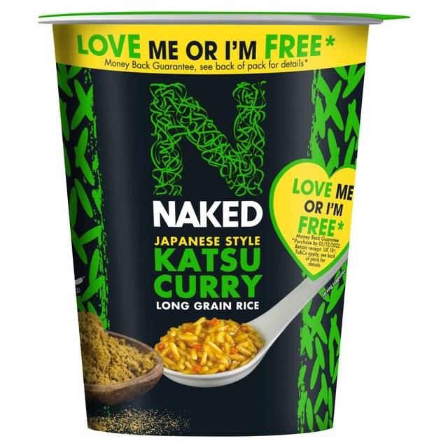 Morrisons Naked Rice Long Grain Rice Japanese Katsu Curry