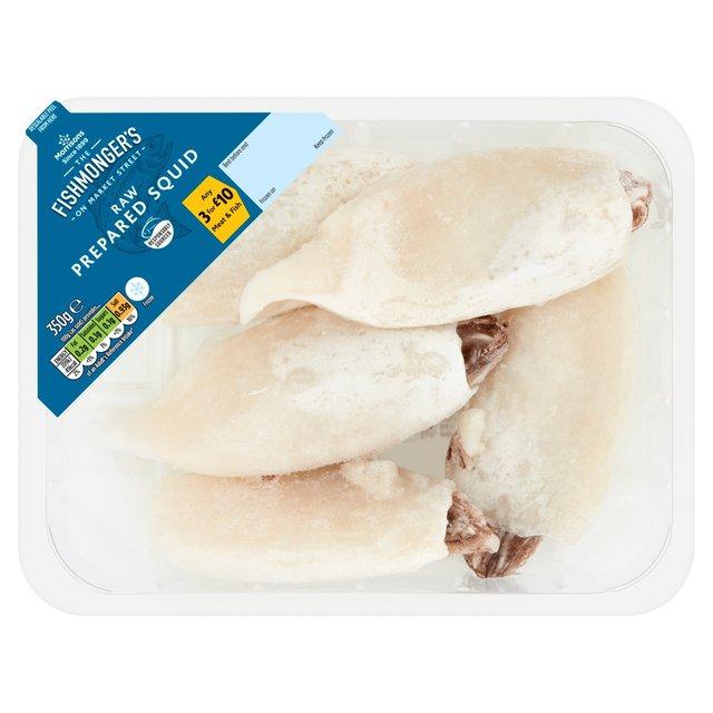 Morrisons Fishmongers Frozen Raw Hand Prepared Whole Squid