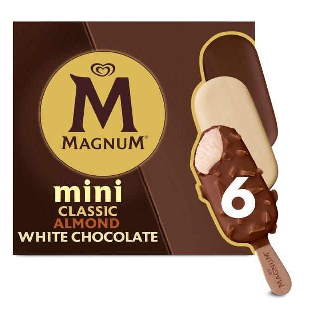 Magnum Mini Classic, Almond & White Ice Cream