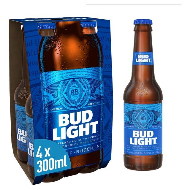 morrisons bud light abv 3 5 4 x 300ml product information