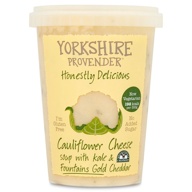 Yorkshire Provender Cauliflower Cheese Soup With Kale & Fountains Gold