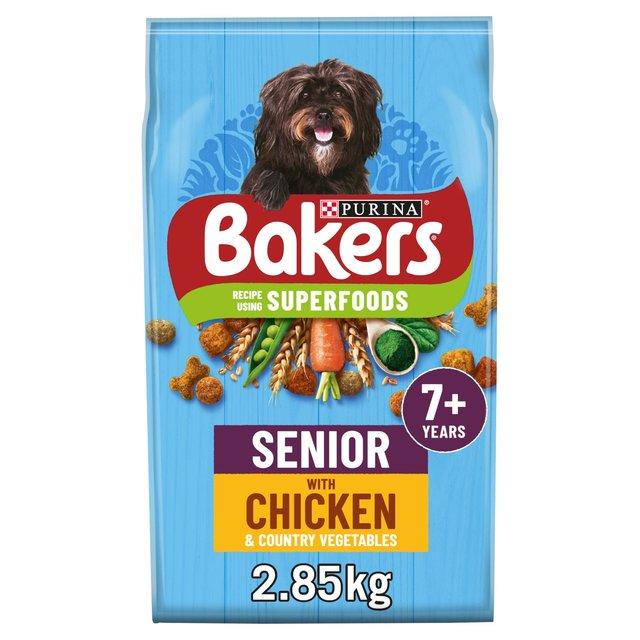 Bakers Senior Dry Dog Food Chicken & Veg