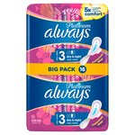 Always Platinum Night (Size 3) Sanitary Towels Wings 16 pads