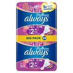 Always Platinum Long Plus (Size 2) Sanitary Towels Wings 20 pads