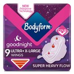 Bodyform Ultra Night XL Sanitary Towels with wings