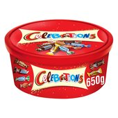 Celebrations Chocolate Tub
