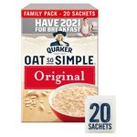 Quaker Oats Oat So Simple Original 20 Sachets