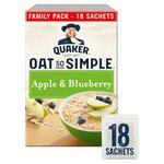 Quaker Oats Oat So Simple Apple & Blueberry Family Pack - 18 Sachets