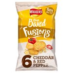 Walkers Oven Baked Fusions 6 Cheddar & Red Pepper
