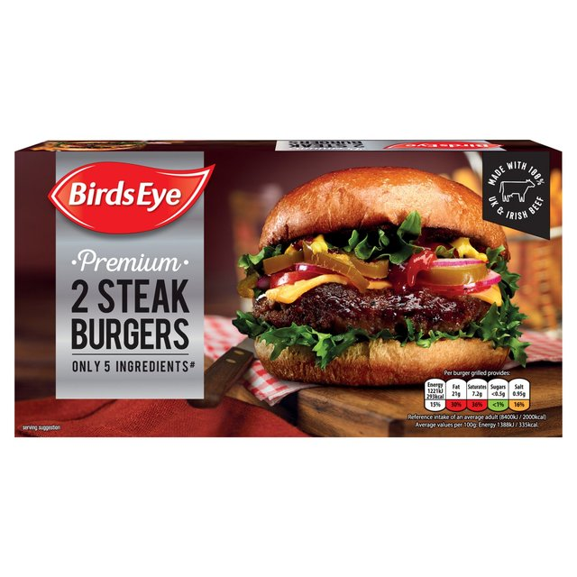 Birds Eye Inspirations 2 x 5oz Steak Burgers