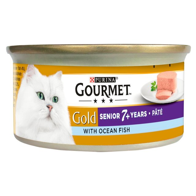 Purina Gourmet Gold Senior 7+ Years Pate With Ocean Fish