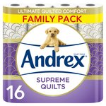 Andrex Supreme Quilts Toilet Roll 16 Rolls