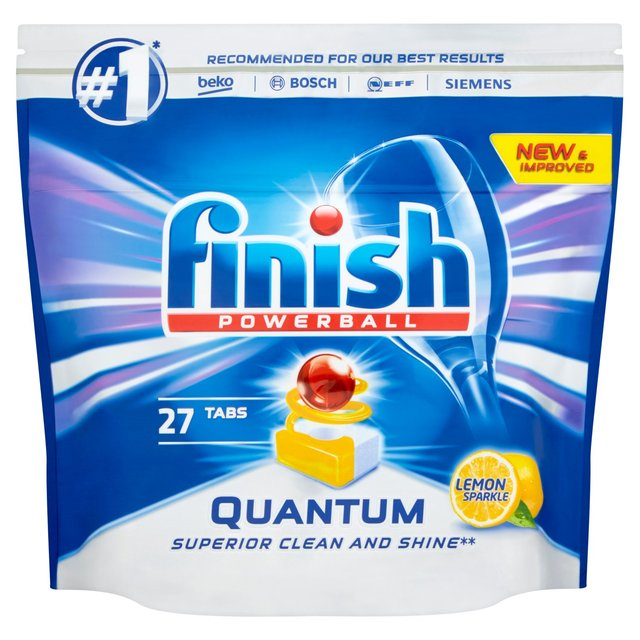 Finish Quantum Max Lemon Dishwasher Tablets