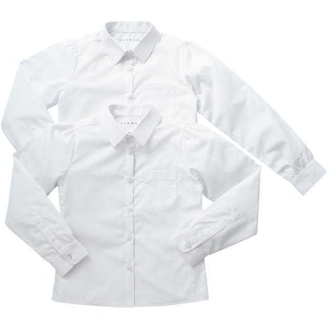 Nutmeg Girls Long Sleeve Shirts 2Pk 11 - 12 Years