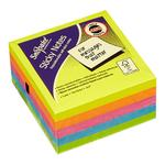 Snopake Sticky Note Cube Neon 450 Sheets 5 Colours