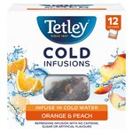 Tetley Cold Infusions Orange & Peach 12s