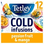 Tetley Cold Infusions Passion Fruit & Mango 12s