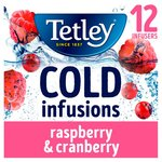 Tetley Cold Infusions Raspberry & Cranberry 12 Infusers