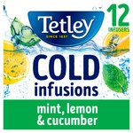 Tetley Cold Infusions Mint, Lemon & Cucumber 12 Infusers