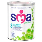Sma Organic Toddler Milk 3 1 - 3 Years