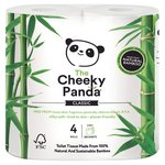 The Cheeky Panda Toilet Tissue 100% Bamboo 4 Rolls