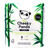 The Cheeky Panda Toilet Tissue 100% Bamboo 9 Rolls