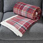Morrisons Checked Sherpa Throw