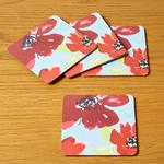 Morrisons Scarlett Bloom Coasters 4Pk