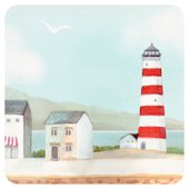 Morrisons Lighthouse Coasters 4Pk