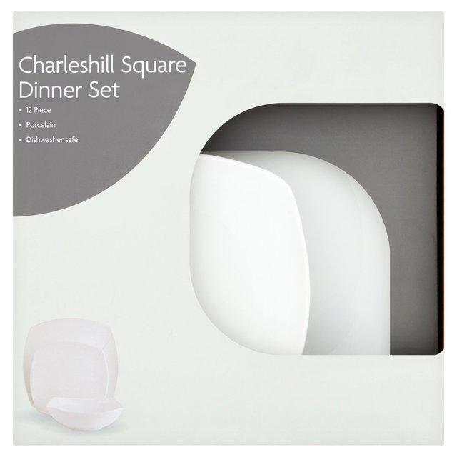 Morrisons Charleshill Square Dinner Set 12 Piece Set