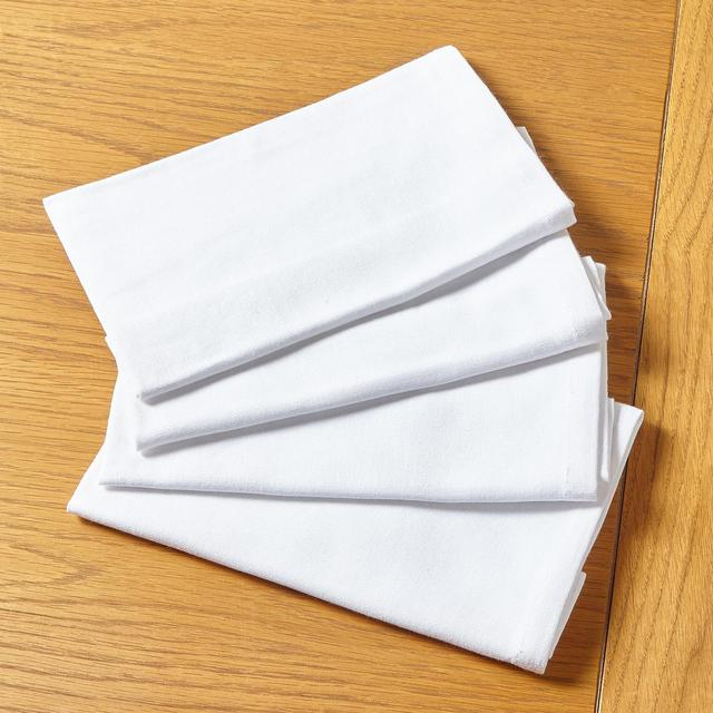 Morrisons White Cotton Napkins 4Pk