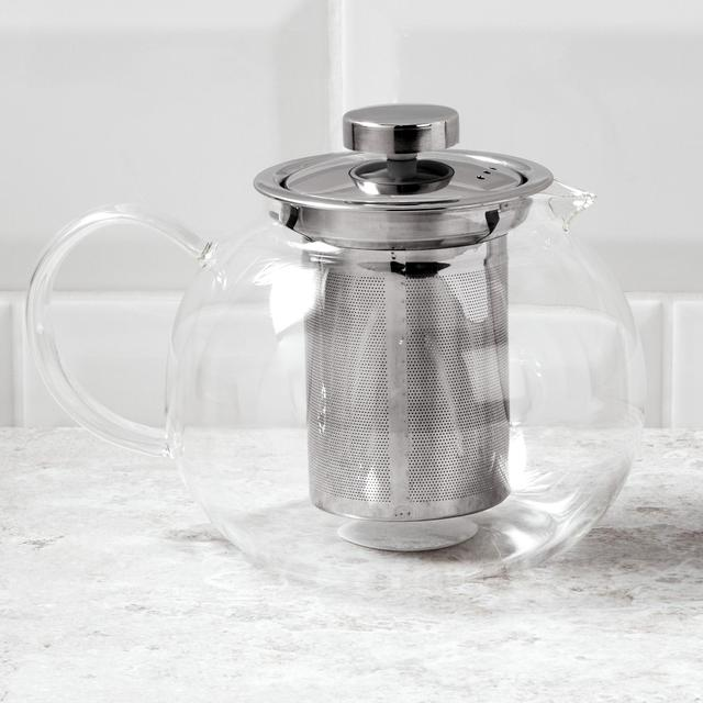 Morrisons Glass Teapot With Tea Infuser