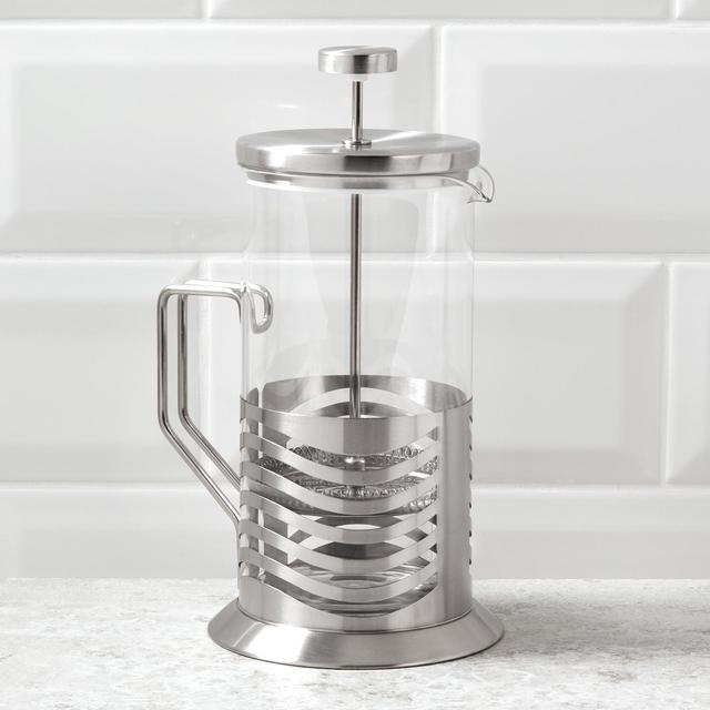 Morrisons Silver Cafetiere Large 8 Cup