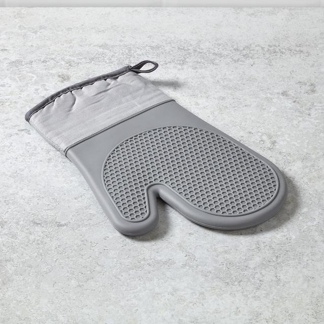 Morrisons Grey Silicone Single Oven Glove