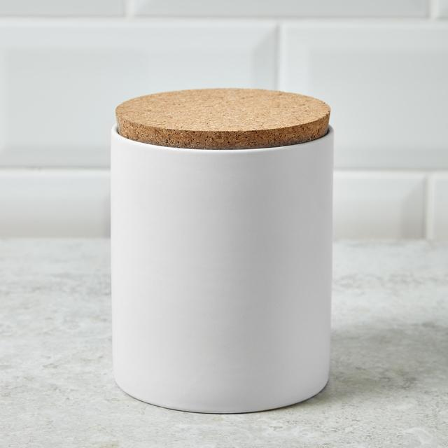 Morrisons Ceramic Storage Canister With Cork Lid Cream