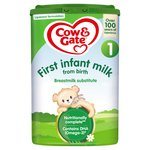 Cow & Gate 1 First Baby Milk Formula From Birth